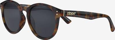ZIPPO Sonnenbrille rund Smoke Flash Leopard in braun / schwarz, Produktansicht