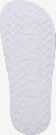Superdry Muiltjes 'EVA POOL SLIDE' in de kleur Wit: Onderaanzicht