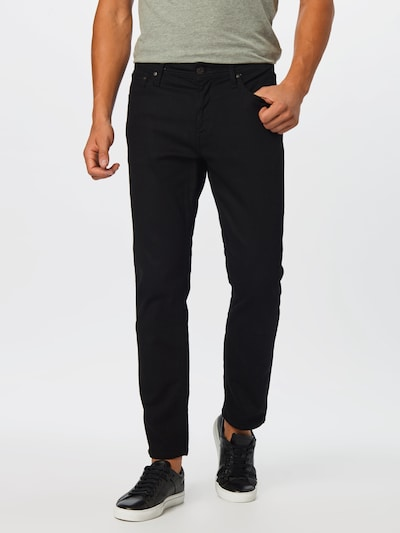 JACK & JONES Jean 'JJICLARK JJORG AM 883 50SPS LID NOOS' en noir denim: Vue de face