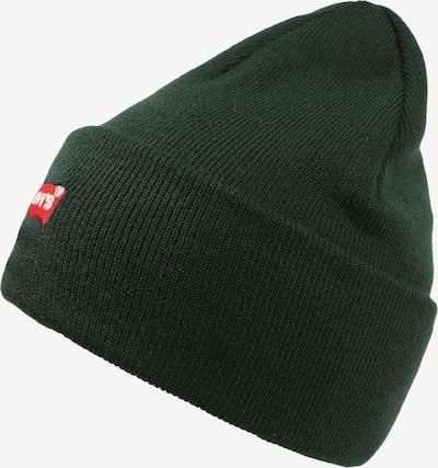 Megzta kepurė 'RED BATWING EMBROIDERED SLOUCHY BEANIE' iš LEVI'S , spalva - tamsiai žalia, Prekių apžvalga