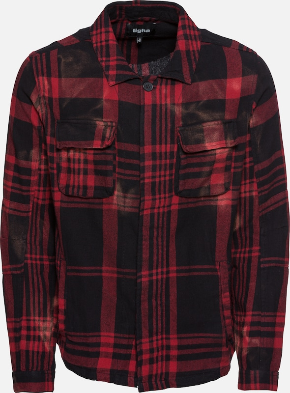 Tigha Hemd 'Ludo' in rot   schwarz    Mode neue Kleidung 68877a