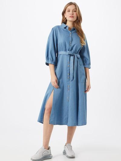 Louche Jurk 'LILWENN CHAMBRAY' in de kleur Blauw denim / Lichtblauw, Modelweergave