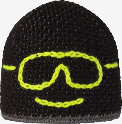 STÖHR Mütze in gelb / schwarz, Produktansicht