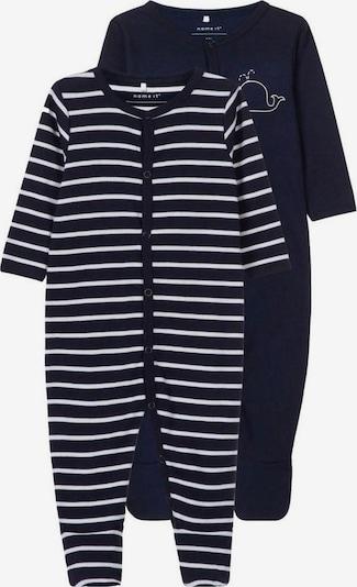 NAME IT Schlafanzug in blau / weiß: Frontalansicht
