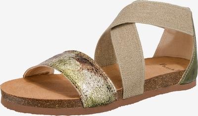 THINK! Riemensandale 'Shik' in sand / braun / oliv / mischfarben, Produktansicht