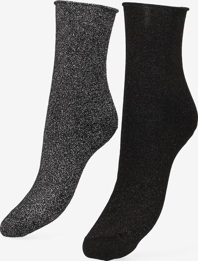 Libertad Socke  'Glitter' in dunkelgrau / schwarz, Produktansicht