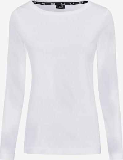 HIS JEANS Langarmshirt in weiß, Produktansicht