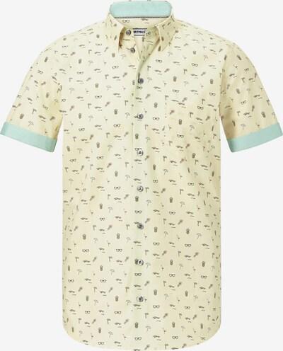 Shirtmaster Kurzarmhemd 'Life on beaches' in gelb / mischfarben, Produktansicht