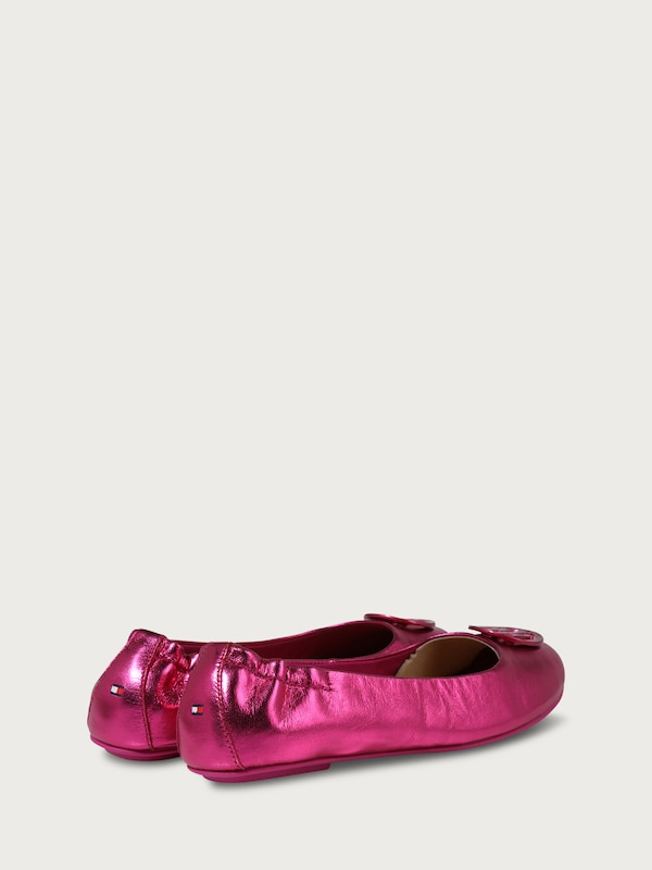 TOMMY HILFIGER Ballerinas in Metallic-Optik
