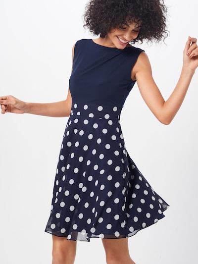 SWING Kleid in dunkelblau / weiß: Frontalansicht