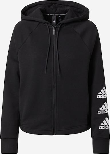 ADIDAS PERFORMANCE Sportsweatjacke in schwarz / weiß, Produktansicht