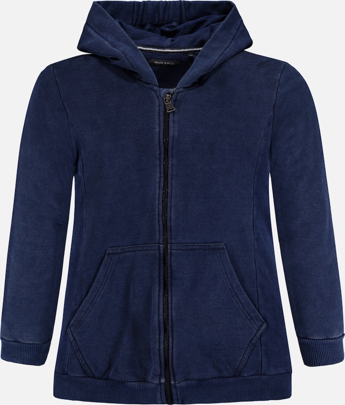 Marc O'Polo Junior Sweatjacke in blau, Produktansicht