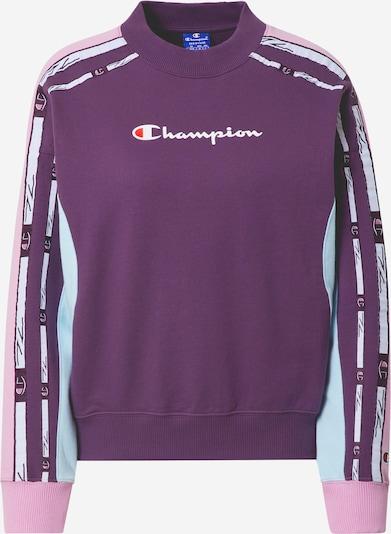 Champion Authentic Athletic Apparel Sweat-shirt en violet foncé / rose / rouge clair / blanc, Vue avec produit