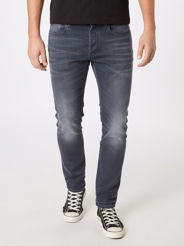 G-Star RAW Jeans '3301' in grey denim: Frontalansicht