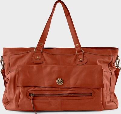 PIECES Tasche Leder-Reisetasche in rostrot, Produktansicht