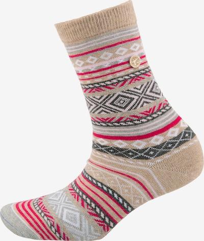 BIRKENSTOCK 1er Pack Fashion Ethno Ii Socken in beige / grau / pink / weiß, Produktansicht