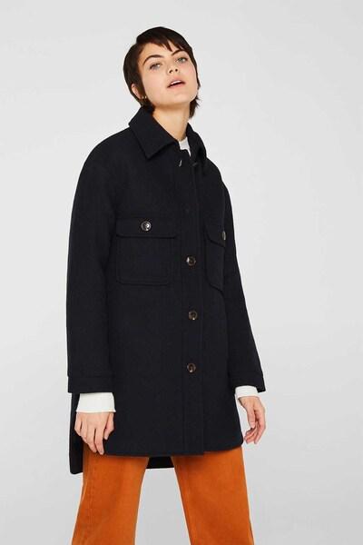 ESPRIT Mantel in dunkelblau, Modelansicht