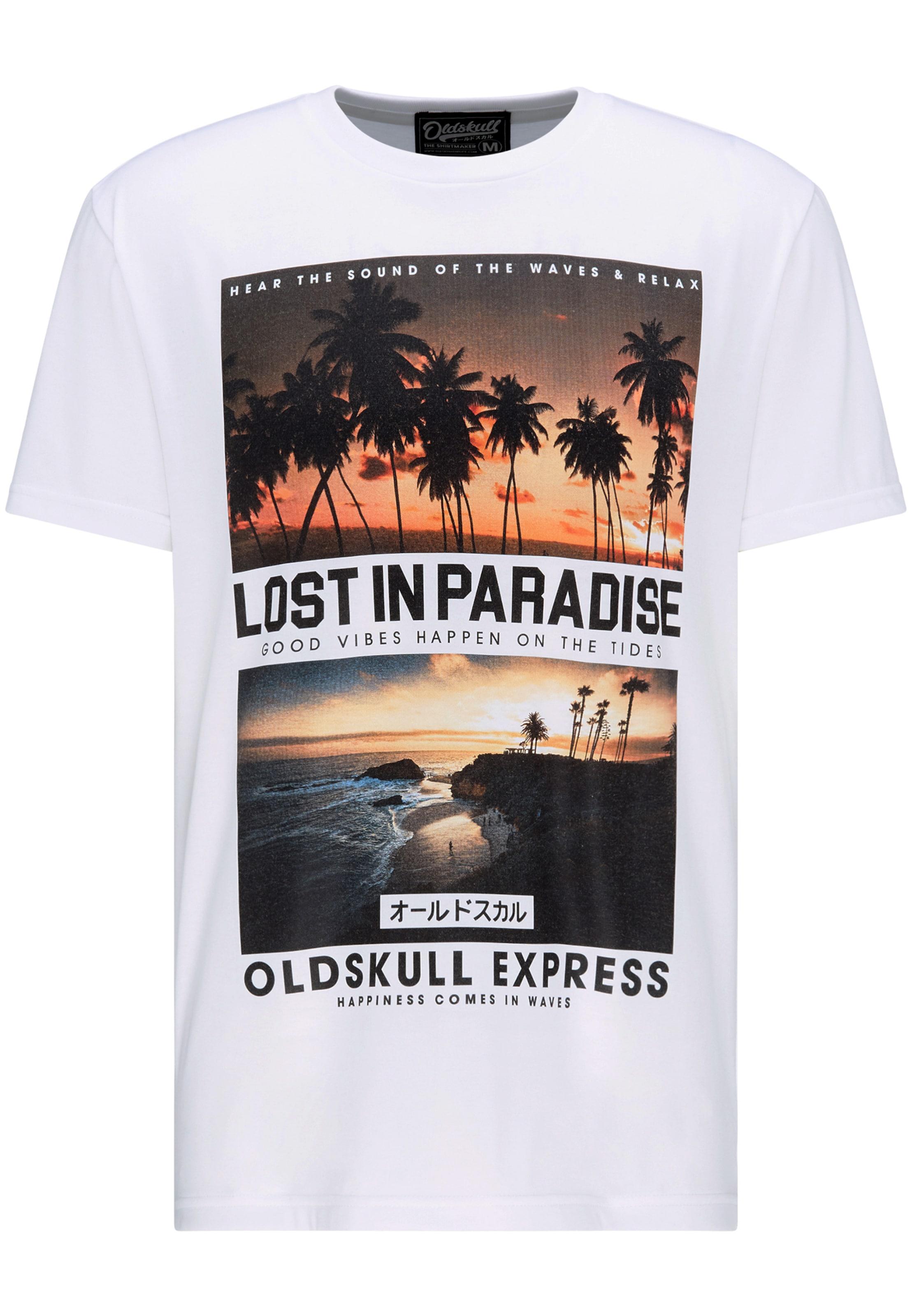 Oldskull shirt En T Mélange De CouleursBlanc 0wO8nPk