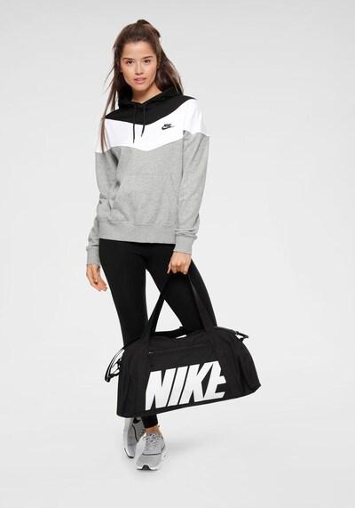 NIKE Sporttasche 'Gym Club' in schwarz / weiß: Frontalansicht