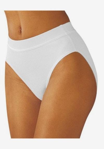 Slip PETITE FLEUR di colore bianco: Vista frontale