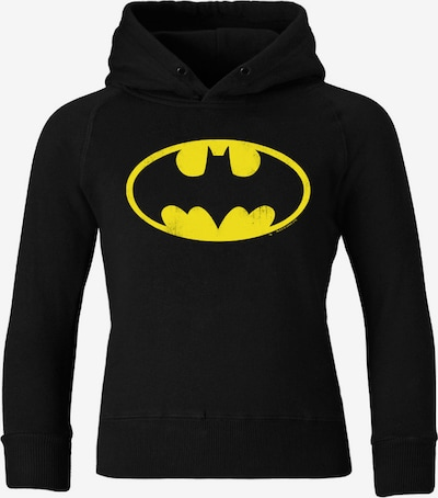 LOGOSHIRT Kapuzen-Sweatshirt 'Batman' in gelb / schwarz, Produktansicht