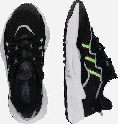 ADIDAS ORIGINALS Ozweego Sportmode Sneakers Schuhe in neongrün / schwarz: Seitenansicht
