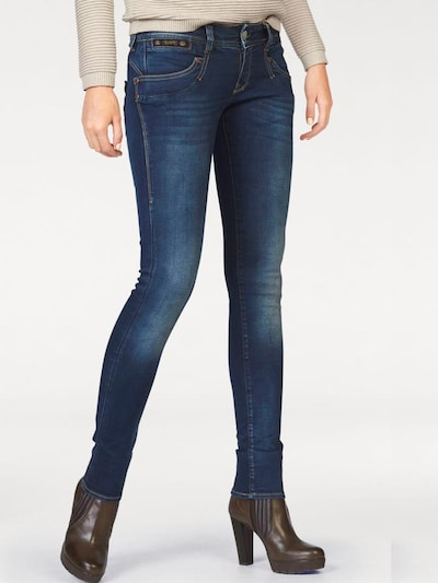 Herrlicher Jeans 'Piper Slim Powerstretch' in blau, Modelansicht