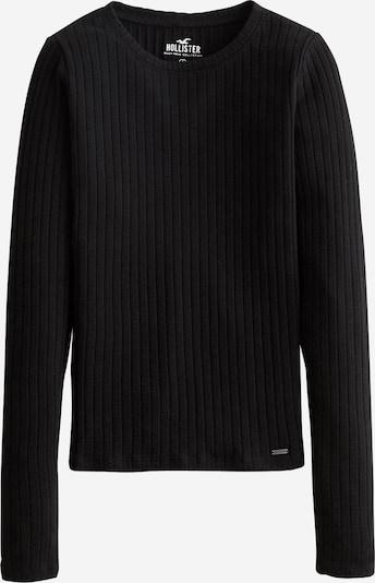 HOLLISTER Shirt 'DTC MH LS SLIM POINTELLE' in schwarz, Produktansicht