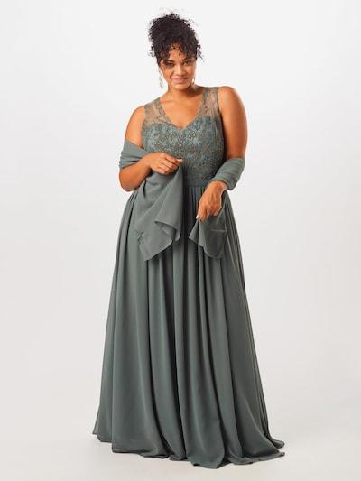 My Mascara Curves Abendkleid 'LACE V' in grün, Modelansicht