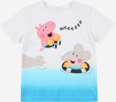 NAME IT Shirt 'Peppa Pig' in hellblau / weiß, Produktansicht