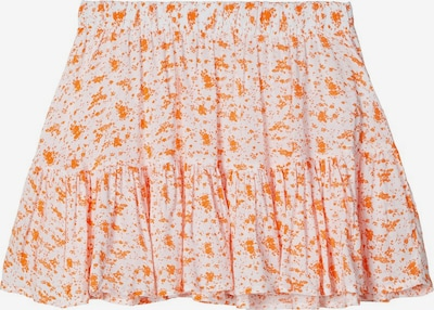 NAME IT Blumenprint Viskose Rock in orange, Produktansicht