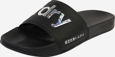 Superdry Strand-/badschoen in de kleur Zwart / Zilver, Productweergave