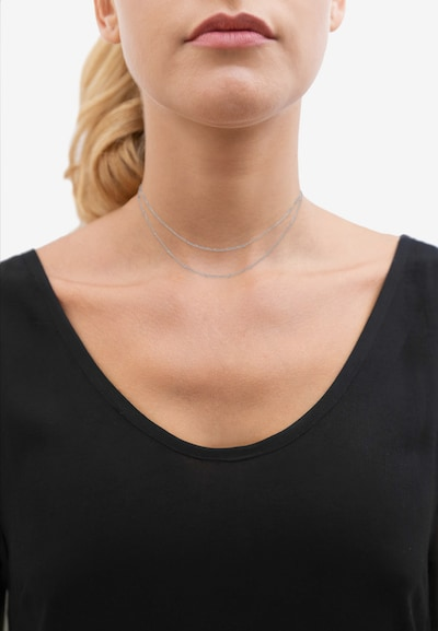 ELLI Halskette Basic Kette, Choker in silber: Frontalansicht