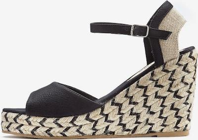 LASCANA Sandale in beige / schwarz, Produktansicht