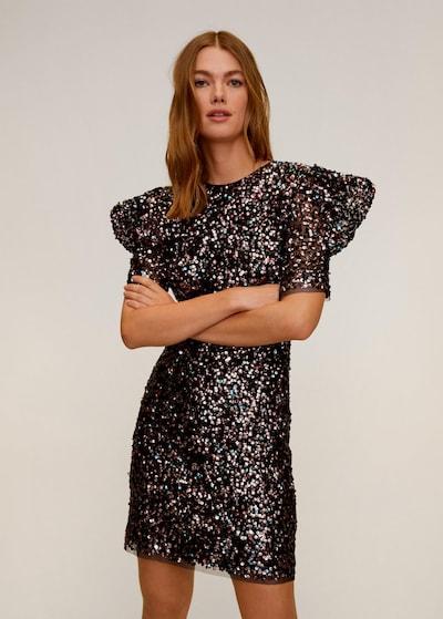 MANGO Kleid in blau / hellpink / schwarz / silber, Modelansicht