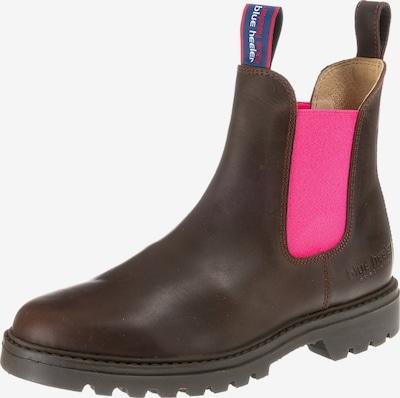 Blue Heeler Chelsea Boots 'Jackaroo' in braun / neonpink, Produktansicht