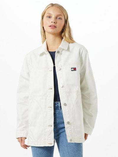 Tommy Jeans Prijelazna jakna 'Workwear' u prljavo bijela, Prikaz modela