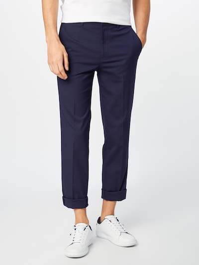 BURTON MENSWEAR LONDON Bundfaltenhose in navy, Modelansicht