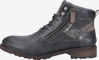 MUSTANG Čizme sa vezicama u bež / grafit siva, Pregled proizvoda
