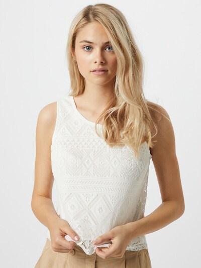 Top 'Thea' Hailys pe alb: Privire frontală