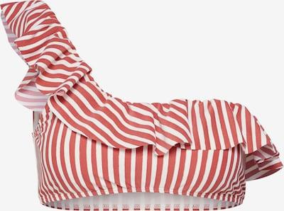 BILLABONG Bikinitop 'dos palmas ruffle' in rot / weiß, Produktansicht