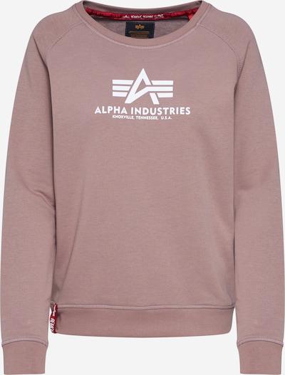 ALPHA INDUSTRIES Sweat-shirt en rose ancienne, Vue avec produit