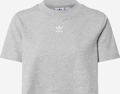 ADIDAS ORIGINALS T-shirt 'Trefoil Essentials' en gris chiné, Vue avec produit