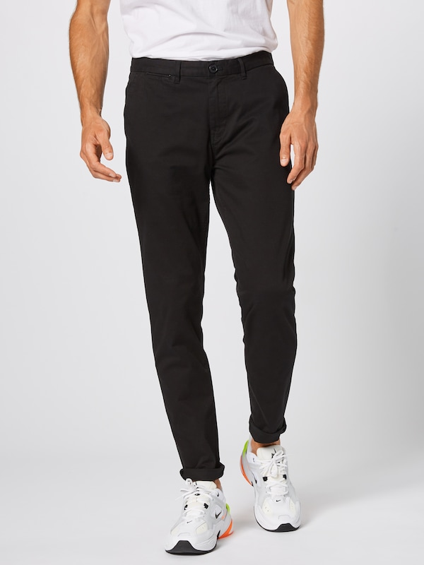 SCOTCH & SODA Chino 'Stuart' in schwarz: Frontalansicht