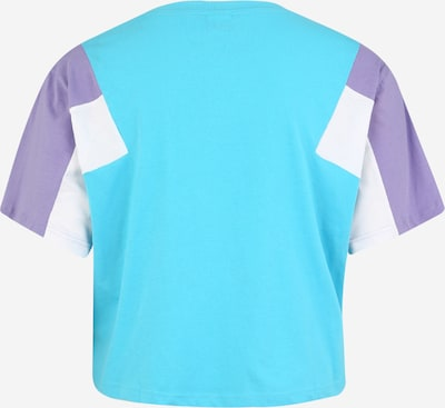Urban Classics T-shirt en turquoise / lavande / blanc: Vue de dos