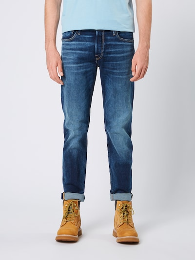 Jeans 'MIKE ORIGINAL' JACK & JONES pe denim albastru: Privire frontală