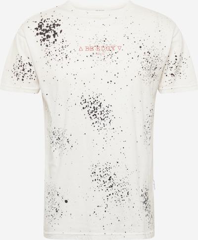 BE EDGY Koszulka 'BEwren' w kolorze różowy / czarny / białym: Widok z przodu