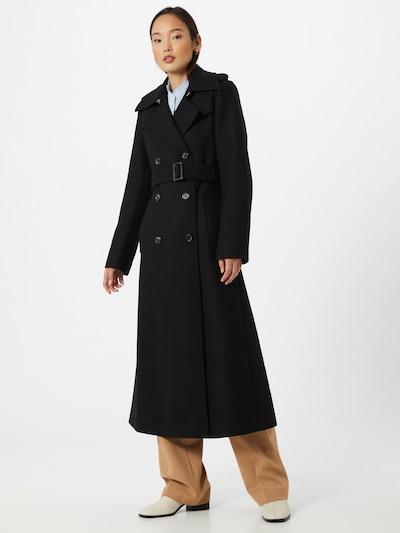 IVY & OAK Manteau mi-saison en noir, Vue avec modèle