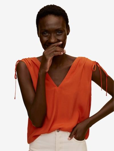 MANGO Top 'Klement' in dunkelorange: Frontalansicht