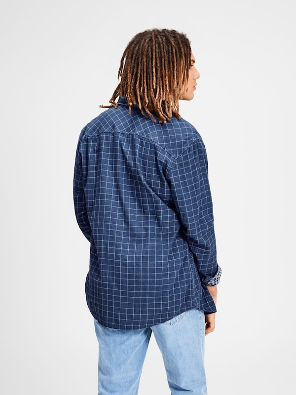 JACK & JONES Karo Langarmhemd